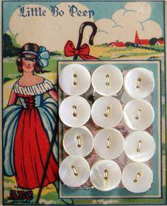 Vintage Little Bo Peep buttons