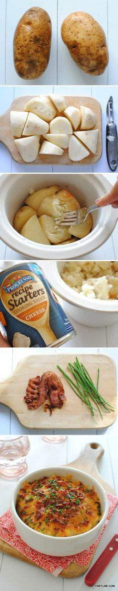 Easy Baked Potato Casserole Minus the canned sauce, plus from-scrath reoux