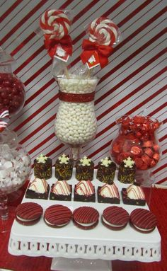 Red and White, Candy Cane Christmas/Holiday Party Ideas | Photo 6 of 8 | Catch My Party