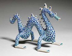 Ceramics by Sue Crossfield at Studiopottery.co.uk - Sea Serpent. Created in 2006.