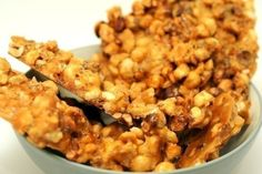 I don't know what I like about this more...the hazelnuts or the bourbon :) This thick, crunchy brittle has plenty of flavor and is easy to put together.