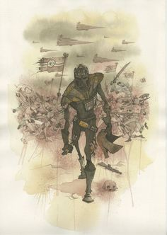 """""""Vader's Helmet"""" by Gris Grimly- Canvas/Paper"""