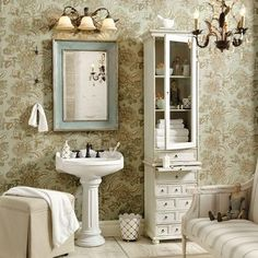 Another pinner said, My shabby chic bathroom makeover. LOVE this ...