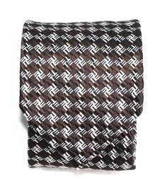 $260 NWT Tom Ford Brown Silver Black Check 100% Silk Neck Tie Made in Italy #TomFord #NeckTie