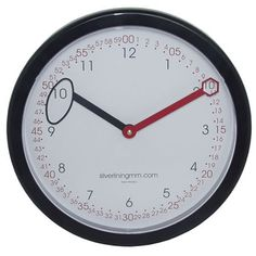 Neat wall clock for teaching time with the different hands....maybe this would help us!