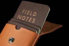 Field Notes' Pony Express leather pouch is a stylish accessory, hand-tooled from American leather, perfect for holding a set of your favourite Memo Books.