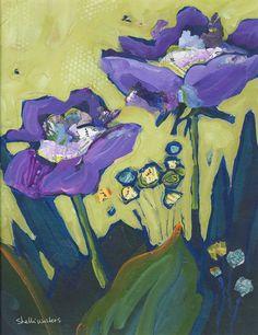 Dipinto originale di fiori viola di ShelliWalters su Etsy, $275.00