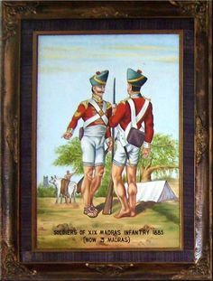 Soldiers of XIX Madras Infantry 1885