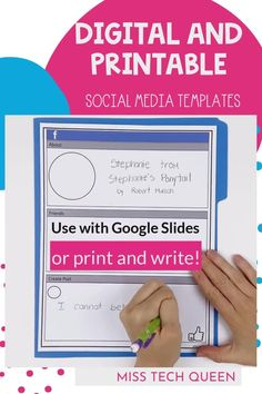 Your students will love these fun and engaging digital social media templates for writing! Since they are digital, it's perfect for distance learning and could be used with your 3rd, 4th, 5th, or 6th grade students. There are 8 different templates that can be used with Google, Microsoft PowerPoint, or even Seesaw. These creative writing activities will excite your students since it incorporates social media!