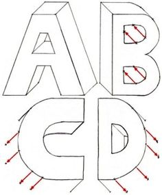 141 Best Drawing 3d Letters Images In 2019 3d Letters Art