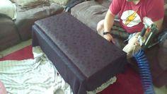 Back of sofa pre-stuffed.