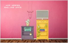 Finishing off more stuff from my to-do list! Ikea Hemnes shelving units • 2 meshes , originally by hugelunatic and hafiseazale for the sims 2 • 25 color options (poppet lonesome recolors by...