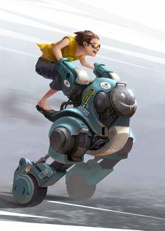 Boy on Robot