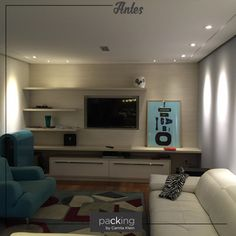 Você não está totalmente satisfeito com um ambiente de sua casa? Gostaria de renová-lo? Então faça como a nossa cliente, que procurou o @packingbycamilaklein para repaginar completamente a sala de televisão do apartamento. Em alguns instantes, veja como ficou a transformação. #packingbycamilaklein #decoracao #sala