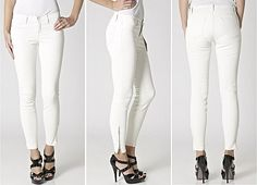 White #leather jeans