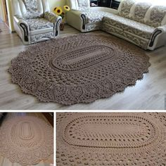 Giant Area Rugs Free Crochet Patterns-How to crochet an Oval Area Rug