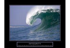 Integrity - Wave Fine-Art Print on PaperPaper Size: x Size: x Nautical Wall Decor, Nautical Art, Tall Ships Race, Motivational Wall Art, Wave Art, Wall Art For Sale, Office Art, Integrity, Photo Art