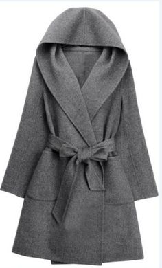 Only $59.99 &free shipping!!This Woolen Hooded Coat is perfect for cold weather. It features pocket at side and with a belt.Find your favourite items at Romoti.com