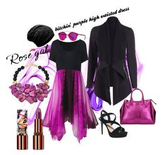"""bitchin' purple dress"" by caroline-buster-brown on Polyvore featuring Nest, Christian Dior, Teeez and Gum by Gianni Chiarini"
