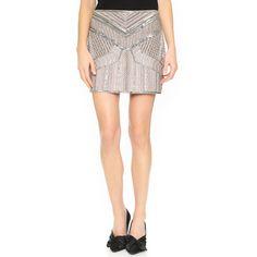 Club Monaco Itzel Skirt (4,470 MXN) ❤ liked on Polyvore featuring skirts, rose grey multi, beaded skirt, rose skirt, club monaco, grey skirt and rose print skirt