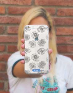 funda-movil-black-daisy-2 Daisy, Phone Cases, Blue, See Through, Mobile Cases, Margarita Flower, Daisies, Phone Case