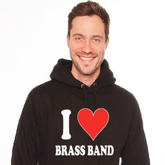 I love Brass Band Hoodie from www.oompahfashion.com  #brassband #euphonium #cornet #tenorhorn #trombone #tuba #baritone #percussion #fashionblogger Band Hoodies, Brass Band, Trombone, Percussion, Graphic Sweatshirt, My Love, Sweatshirts, Sweaters, Pullover