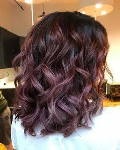 Chocolate Mauve Is the Delicious New Color Trend You Should Try This Fall Hair Color And Cut, Brown Hair Colors, Chocolate Mauve Hair, Chocolate Color, Lilac Hair, Hair Creations, Hair Highlights, Fall Hair, Balayage Hair