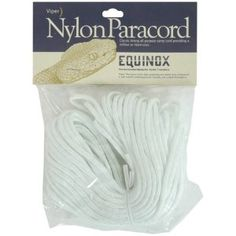 Equinox White Paracord 100 Feet/Ft - 550 Nylon Camp Cord, 7 Strand for sale online