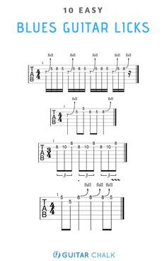 10 Easy Blues Guitar Licks for Beginners Blues Guitar Chords, Guitar Tabs And Chords, Music Theory Guitar, Blues Guitar Lessons, Guitar Chords Beginner, Guitar Chords For Songs, Online Guitar Lessons, Music Chords, Guitar Sheet Music