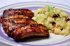 Honey Garlic Ribs with Cranberry Apple Quinoa Salad