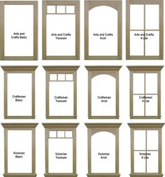 window casing and window comparisons | Home - Rancher to Craftsman |  Pinterest | Window casing, Window and Window trims