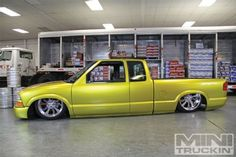 Featured in Mini Truckin' 1999 Chevy Shaved Door Handles Bagged Trucks, Lowered Trucks, Mini Trucks, Lifted Trucks, Cool Trucks, Chevy Trucks, Cool Cars, Chevy S10 Xtreme, S10 Truck