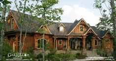 Chestatee River Cottage House Plan 07223 Front Elevation Mountain Style House Plans Rustic Style House Plans #shedplans Tree House Plans, Rustic House Plans, House Plans One Story, Craftsman Style House Plans, Cottage House Plans, Cottage Homes, Mountain House Plans, River Cottage, Home Design Plans