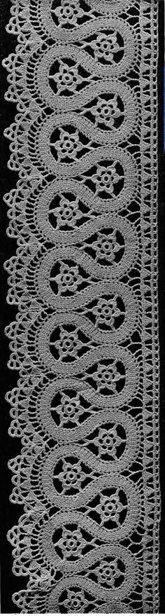 Crochet Lace - booklet in the public domain from Madame Hardouin from the Antique Pattern Library: