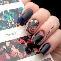 Born pretty 꽃 그림 네일 아트 워터 데칼 전송 스티커 bp-w05 2 패턴/시트 #20596
