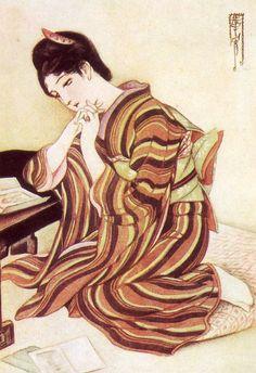 Kasho Takabatake (1888-1966) Japanese Art Styles, Japanese Artwork, Japanese Painting, Japanese Illustration, Japanese Aesthetic, Japan Photo, Native American Art, Asian Art, Art Images