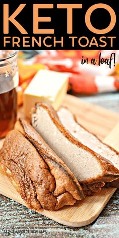 This protein-packed Keto French Toast Loaf makes French toast in a loaf pan! It is a delicious breakfast or snack and can be enjoyed on the go. Best Keto Meals, Healthy Low Carb Recipes, Keto Recipes, Snack Recipes, Dessert Recipes, Free Recipes, Advocare Recipes, Sweet Breakfast, Low Carb Breakfast