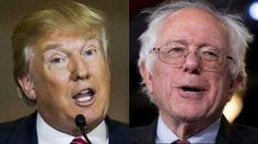 El republicano Donald Trump y el demócrata Bernie Sanders se impusieron en las primarias de sus partidos en New Hampshire, Estados Unidos. Febrero 11, 2016.