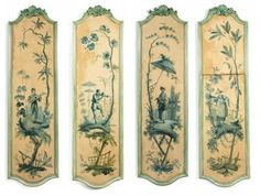 Chinoiserie: Young musicians and children's games surrounded by foliage works) Wall Painting Decor, Art Decor, Decoration, Wall Art, Chinoiserie Wallpaper, Chinoiserie Chic, Painted Paneling Walls, Art Français, Ceiling Murals