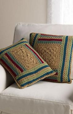 Pillows crocet Tutorial ༺✿ƬⱤღ✿༻