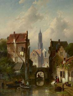 Paris Painting, City Painting, Light Painting, Great Paintings, Old Paintings, Landscape Paintings, Landscapes, Carl Spitzweg, Victorian Paintings