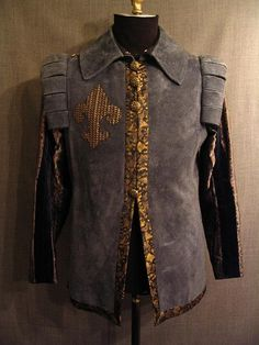 Man Of La Mancha, Doublet, Blue Suede, Menswear, Velvet, Costumes, Suits, Denim, Mens Tops