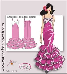 Vestido de flamenca doble volante