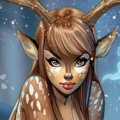 "bear1na: "" Fawn Girl by J. Scott Campbell """