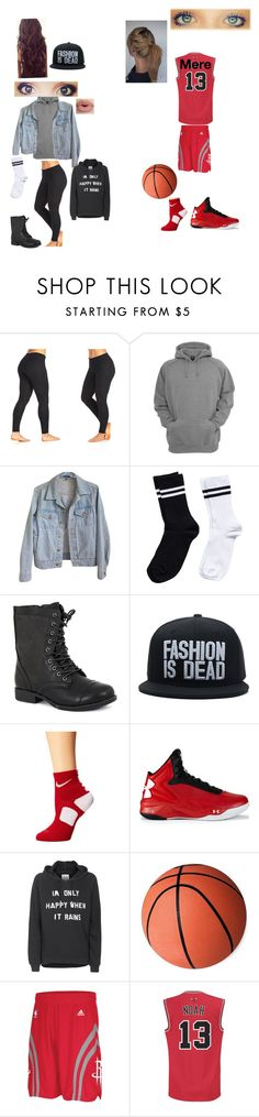 """""""Best friends basketball game"""" by jenmaedd ❤ liked on Polyvore featuring Marika, American Apparel, Pieces, Pierre Dumas, Sephora Collection, NIKE, Under Armour, Zoe Karssen and adidas"""