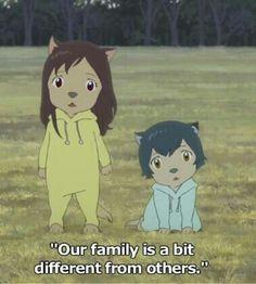 Wolf Children: Yuki (left) & Ame (right).