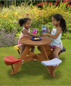 Plum Children's Garden Picnic Table - garden