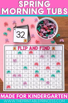 21 literacy and math activities with an adorable spring theme. The activities make the perfect kindergarten morning tubs. The skills included in this resource are ones that your Kindergarteners are probably working on during the month of March, April, and May.   It is packed full of games and interactive, hands-on activities to keep students engaged and learning all season long.