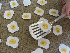 Egg Flip Sight Word Game