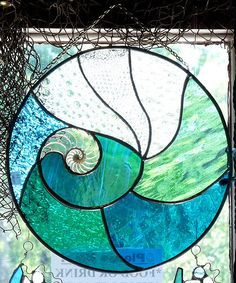 round marine theme stained glass windows - Google Search